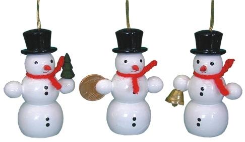 Schneemann mit Glocke, Behang