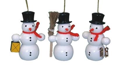 Schneemann mit Schlittschuhe, Behang